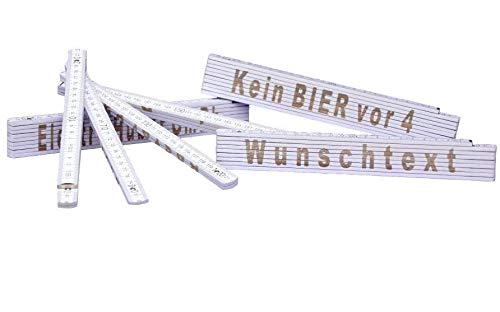2m Meterstab mit Deinem Wunschtext eingelasert/Zollstock/Metermaß/Gliedermaß personalisiert Männergeschenk