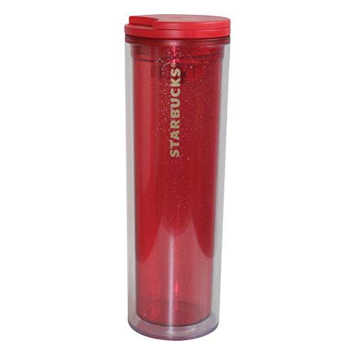 Starbucks Tumbler Red Sparkle Glitter Kaffeebecher Teebecher Rot Glitzer