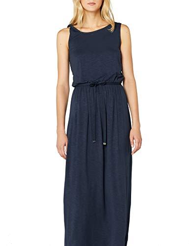 edc by ESPRIT Damen 048CC1E026 Kleid, Blau (Navy 400), X-Small