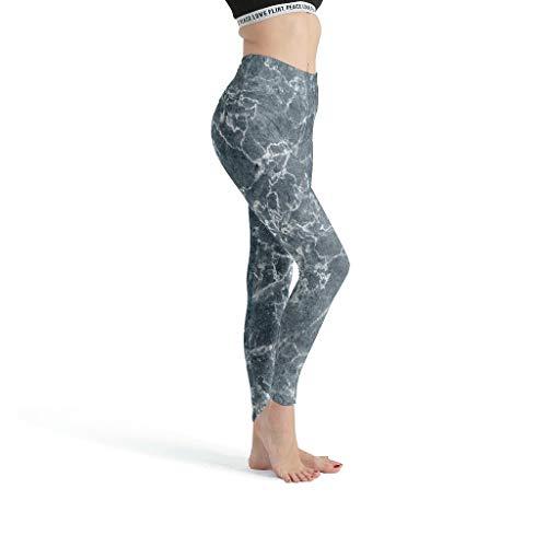 shenminqi Marble TextureGirls - Leggings estampados suaves para yoga