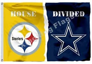 Pittsburgh Steelers Dallas Cowboys House Divided Flag 3x5 - With 2 Grommets