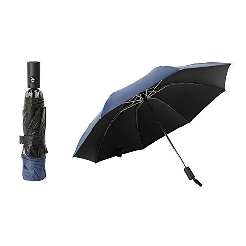 Inverted umbrella fully automatic reverse umbrella folding men and women German craft umbrella male large paraguas,navy blue