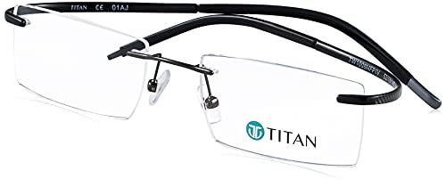 Titan Men Rectangular Eyeglass Frame