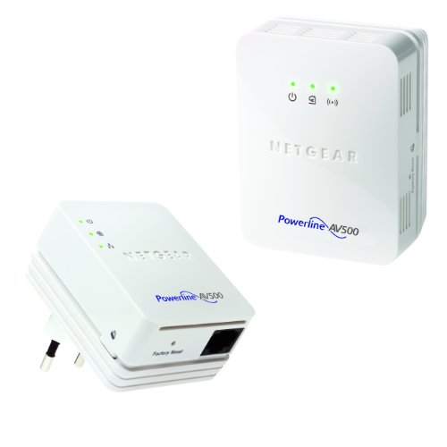 NETGEAR XWNB5201-100PES Powerline WLAN Access Point Set (2-Port, 500Mbps)