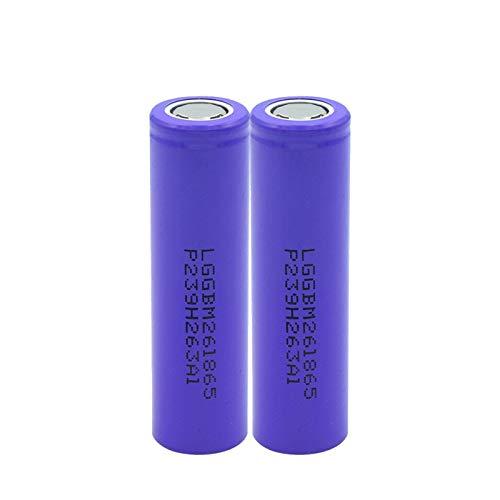2 unids/Set 3,7 V 18650 2600 mAh batería Recargable batería de Iones de Litio de Alta Capacidad para Linterna Linterna Frontal de Litio células de Tapa Plana