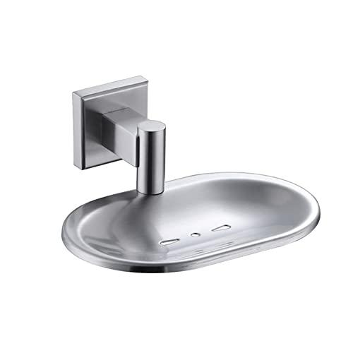 HENHEN Jun Store 304 Caja de jabón de Acero Inoxidable Caja de jabón Doble Drenaje baño baños de jabón Bandeja de Plato de Aceite Esencial (Color : As pic)