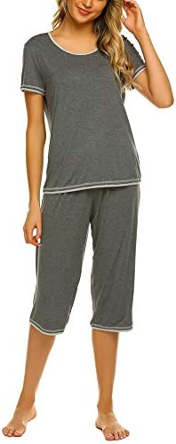 Ekouaer Sleepwear Womens Capri Pajama Sets Tops with Capri Pants Pjs product image
