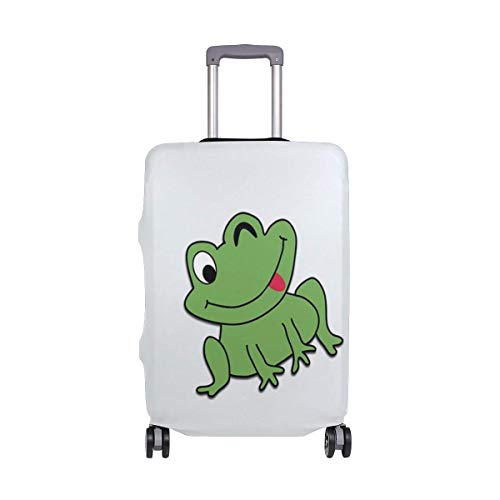 IUBBKI Travel Luggage Cover Cartoon Theme Funny Frog Suitcase Protector Fits L Washable Baggage Covers