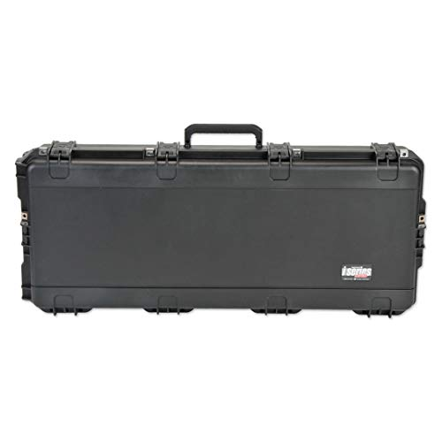 SKB Cases 3I-4217-db iSeries Portable Double Rifle/Parallel Limb Bow Combo Utility Carrying Case with Hard Plastic Exterior and Wheels, Black