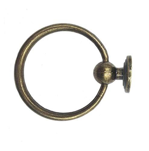 Perilla Del Gabinete Glass Doorknobs 2 Piezas De Gabinete Antiguo De Un Solo Orificio Anillo Colgante Manija Anillo Cajón Anillo De Extracción