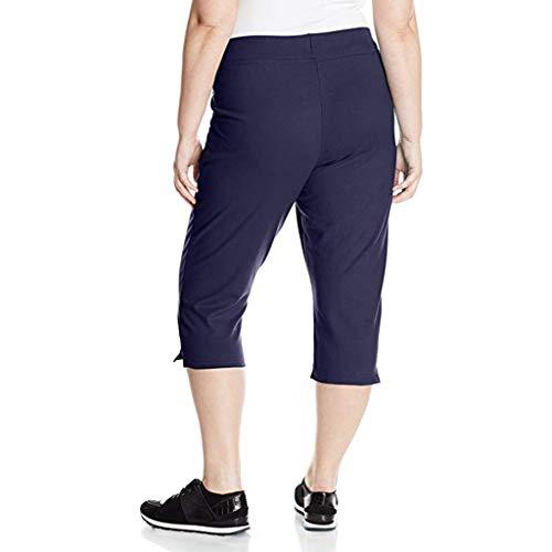 catmoew Yogahosen Damen Enge Leggings in Übergröße für Damen, Kurze Hose Frauen Komfortable Plus-Size Oberschenkel Slimmer Slip für Unterhosen Ropped Hosen