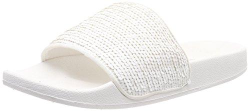 ESPRIT Damen Ella Sequins Pantoletten, Weiß (White), 38 EU