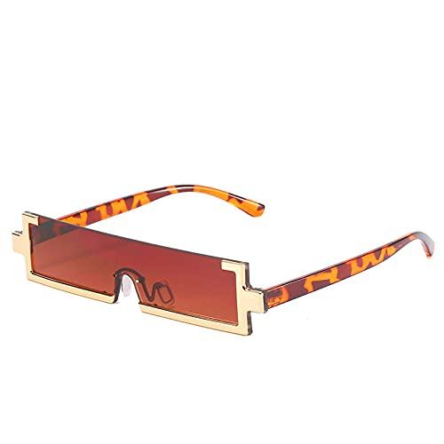 U/N Gafas de Sol rectangulares pequeñas para Mujeres y Hombres, Gafas de Sol cuadradas de una Sola Pieza, Gafas de Sol cuadradas para Mujer, Gafas de Montura Estrecha Shade-5