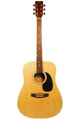 J Reynolds JR70N Full-Size Dreadnought Acoustic Guitar, Natural