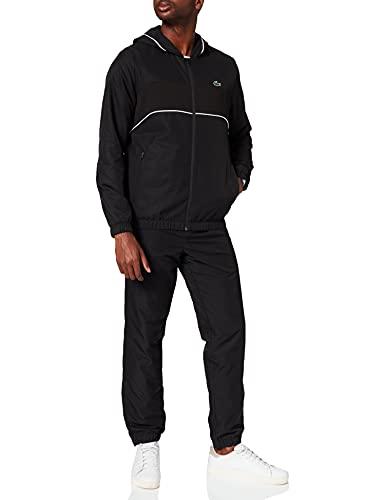 Lacoste Herren WH9680 Hom Trainingsanzug Set, Noir/Noir-Blanc-Noir, S