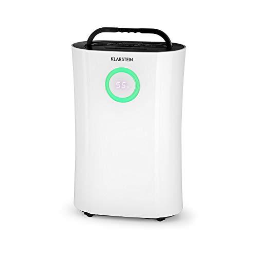 Klarstein DryFy Pro Luftentfeuchter Lufttrockner Raumentfeuchter Dehumidifier (Ionisator, UV-Funktion, Timer, Aktivkohlefilter, 170 m³/h, 370 Watt, für Räume bis 40m², 20 Liter Feuchtigkeit/24h) weiß