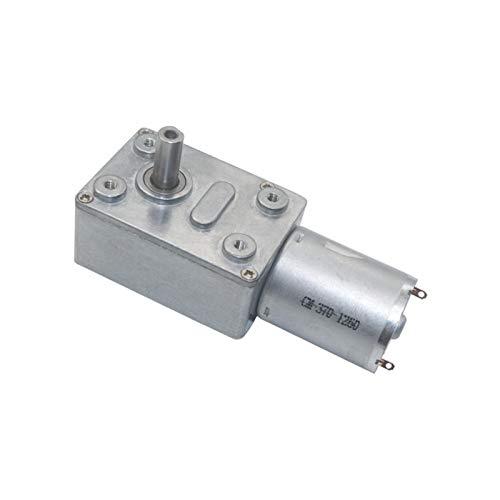 Motor de engranaje eléctrico 6V 12V 24V 2RPM a 150RPM DC Motor de reducción de la unidad de transmisión del gusano DC Velocidad baja para Motores de engranajes de bricolaje JGY370 GUANTE MEJOR METMOTO