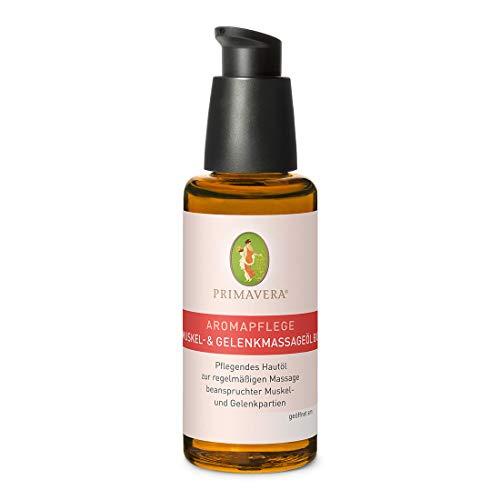 PRIMAVERA Aromapflege Muskel- und Gelenkmassageöl bio 50 ml - Aromaöl, Massageöl, Aromatherapie, ätherische Öle - Pflege beanspruchter Muskeln und Gelenke - vegan