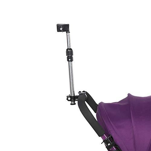 DAUERHAFT Soporte retráctil para Paraguas Soporte de Paraguas de Amplia aplicabilidad, para Bicicletas, Coches eléctricos, carros, sillas de Ruedas