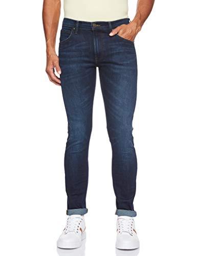 Lee Herren Tapered' Tapered Fit Jeans Luke', Blau (Dark Pool Gp), 32W / 34L (Herstellergröße: 32W / 34L)