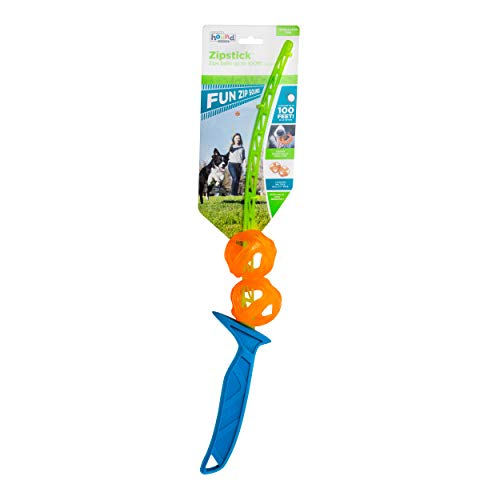 Outward Hound Zipstick Launcher Ball Thrower Fetch Dog Toy  2 Balls Included
