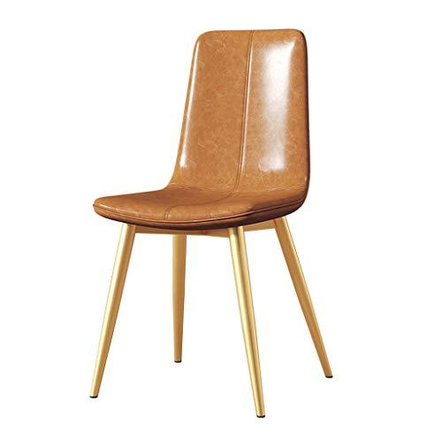 Dining chair WGZ – Stuhl für Studenten, Schreibtisch und Stuhl, Make-up-Computer-Hocker, für Zuhause, einfach (Farbe: Gelbbraun)