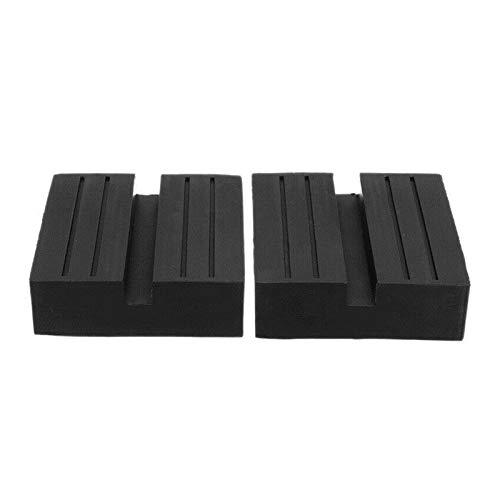 RJJX 2pcs Universal Coche Rango Elevador Trolley Jack Block Block Rubber Pad Adaptador de protección