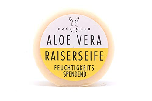 Haslinger Vorteilset Aloe Vera Rasierseife, 60 g Art.Nr. 1811 + Trinitae Handcreme - Salz aus dem Toten Meer/Shea Butter/Zitrus Kräuter Mischung Original-Linie 50ml erfrischender Verbena