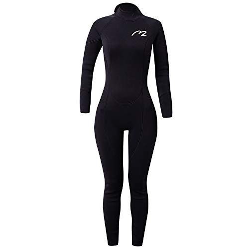 Rash Guard UPF 50+ UV Sunprotection for Men Women Lycra Full Body Diving Suit Full Wetsuit & Breathable Sports Dive Skins for Running Snorkeling Swimming Kayaking (3mm-Female, X-Large)