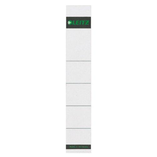 Leitz Ersatz-Rückenschilder für 50 mm Qualitäts-Ordner mit Rückenschild-Taschen, 10 Stück aus Karton, Kurz und schmal, 32 x 190 mm, grau, 16080085
