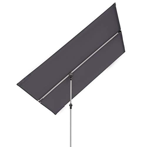 Doppler Active Balkonblende – Rechteckiger Sonnenschirm ideal für den Balkon –Plus Sichtschutz – 180x130 cm – Anthrazit