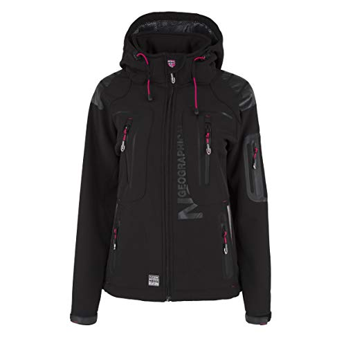Geographical Norway Tislande Damen Softshell Jacke Schwarz Gr. L