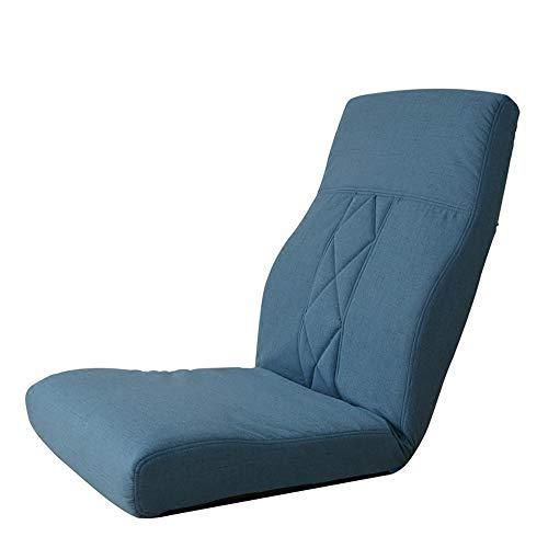 LJFYXZ Canapé Paresseux Chaise Balcon Dossier Petite Chaise Réglage à 5 Vitesses Lavable Simplicité Moderne canapé Paresseux (Couleur : Bleu)