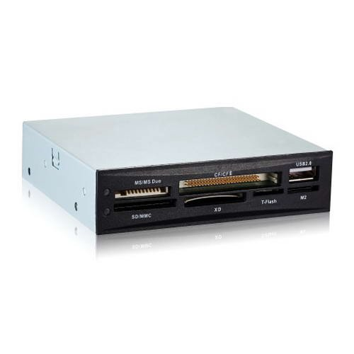 TooQ TQR-208B - Interner Speicherkartenleser (CF, MS, SD, SDXC, microSDXC, X-Memory, TF (Micro SD) und M2), 3,5