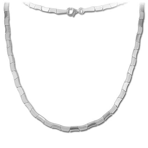 SilberDream Halsschmuck 45cm Collier Kette matt Design 925er Silber SDK427