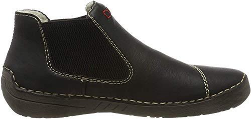 Rieker Damen 52590 Chelsea Boots, Schwarz (schwarz/schwarz 00), 40 EU