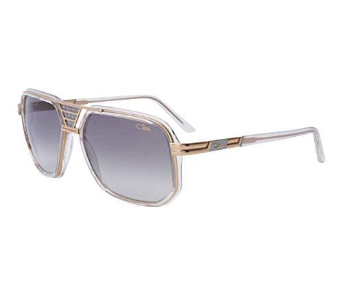 Cazal 666 003 - Gafas de sol (cristal), color dorado y gris