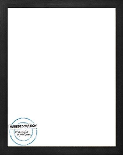 Homedecoration Cornice Misano 81 x 72 cm MDF, Cornice in Stile Moderno 72 x 81 cm, Colore selezionato: Legno Nero con Vetro Sintetico Trasparente 1 mm
