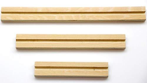 GLOREX 6 7103 411 - Listón de madera (3 piezas, 10/15/20 x 2 cm), multicolor