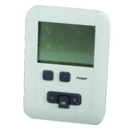 Hager - Thermostat ambiance programmable à piles LR6 - HAGER : EK570