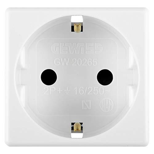 Gewiss Base de corriente SYSTEM para caja de superficie - 2P T norma española - 250 Vca, 16A - 2 Módulos - Blanco - GW20265DY