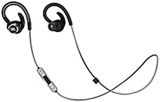 JBL Reflect Contour 2 Secure Fit Wireless Sport Headphones - Stereo - Black - Wireless - Bluetooth - 14 Ohm - 10 Hz - 22 kHz - Earbud, Behind-The-Neck, Over-The-Ear - (Renewed)