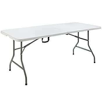 Arebos Table pliable de camping   180 cm
