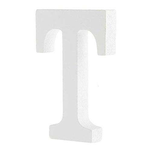 Worsendy Buchstaben Holz weiß, Handwerk Holz Holz Briefe Braut Hochzeitsparty Geburtstag Spielzeug Home Dekorationen 8 * 6CM (T)