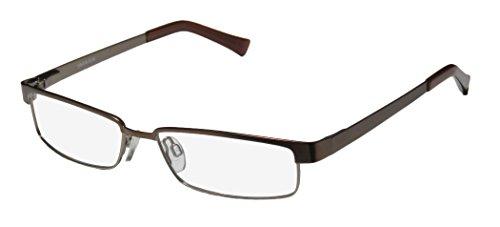 D&A Sundial Mens/Womens Designer Full-Rim Shape Spring Hinges Collectible Trendy Soft Nosepads Eyeglasses/Eye Glasses (54-15-135, Bronze)