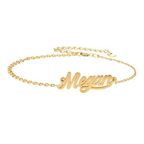HUAN XUN My Best Friend Megan Name Bracelet in Golden