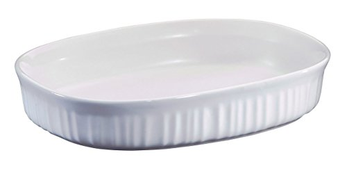 Corning Ware 'French White' (1.5 Qt.) Oval Casserole Baking Dish (F-6-B)