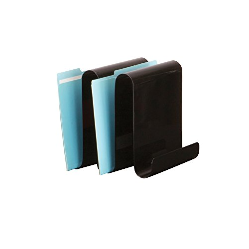 Safco Products 3221BL Wave File Holder, 4 Upright Sections, Black