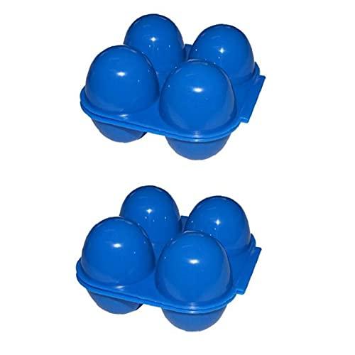 Titular De Huevo Nevera Caja De Almacenamiento Apilable De Huevo Aire Libre De Almacenamiento De Huevos De Plástico 4 Huevo Rejilla Portátil De La Caja De Huevo Organizador De Aire del Gabinete De