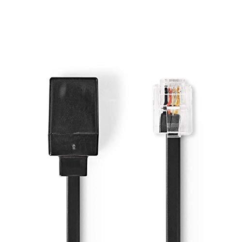Nedis verlengkabel voor Telecomuni RJ11 mannelijk - R